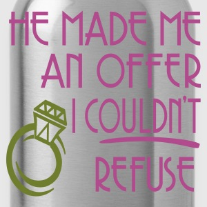 Black He Made Me An Offer I Couldn't Refuse Women's T-Shirts - Water Bottle