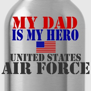 Gray DAD HERO USAF Long Sleeve Shirts - Water Bottle