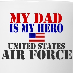 White DAD HERO USAF Kids' Shirts - Coffee/Tea Mug