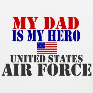 White DAD HERO USAF Kids' Shirts - Men's Premium Tank