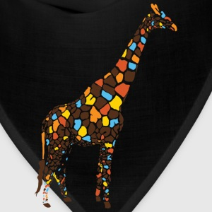 Light blue Colorful Giraffe Women's T-Shirts - Bandana