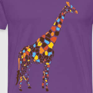 Light pink Colorful Giraffe Hooded Sweatshirts - Men's Premium T-Shirt