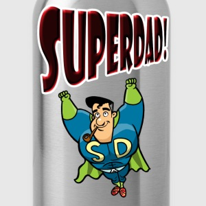 Red SuperDad T-Shirts - Water Bottle