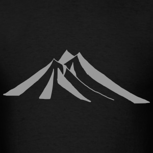 Black mountains - hill - nature - mount Bags  - Men's T-Shirt