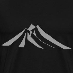 Black mountains - hill - nature - mount Bags  - Men's Premium T-Shirt