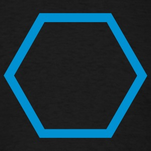 Black Hexagon Outline Long Sleeve Shirts - Men's T-Shirt