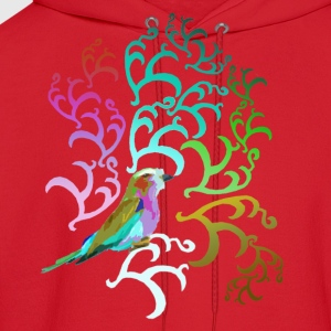 Red Breasted Roller Gradient Womens - Men's Hoodie