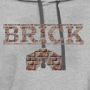 Brick shit house - Contrast Hoodie