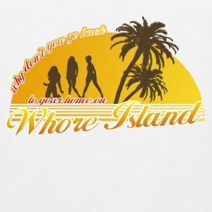 White Anchorman Whore Island Women's T-Shirts - Men's Premium Tank