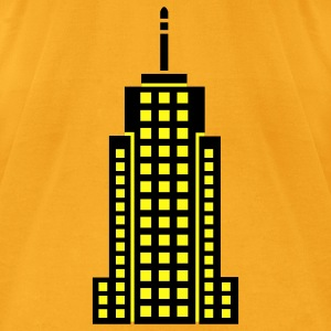 Creme Skyscraper Building Bags  - Men's T-Shirt by American Apparel