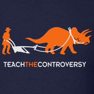 dino-Human Coexistence (Teach the Controversy) Hoodies - Men's T-Shirt