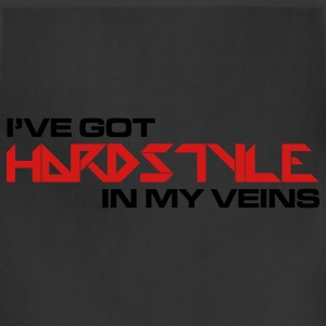Black Hardstyle In My Veins Women's T-Shirts - Adjustable Apron