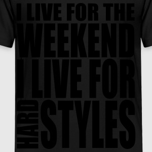 Black I Live For The Weekend Kids' Shirts - Toddler Premium T-Shirt