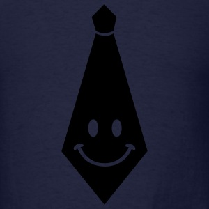 Navy smiley tie Sweatshirts - Men's T-Shirt