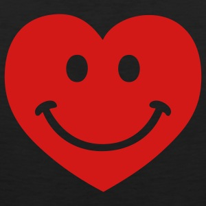 Black heart smiley Hooded Sweatshirts - Men's Premium Tank