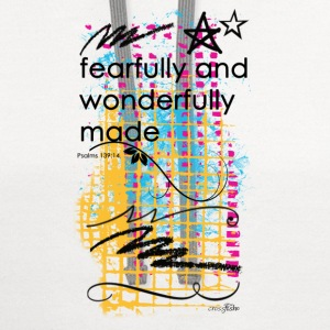 Fearfully and wonderfully made. - Contrast Hoodie