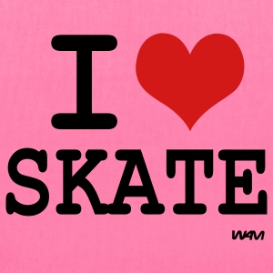 Fuchsia i love skate by wam Tanks - Tote Bag
