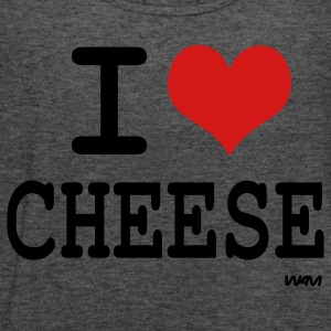 Deep heather i love cheese by wam Women's T-Shirts - Women's Flowy Tank Top by Bella