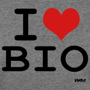 Deep heather i love bio by wam Women's T-Shirts - Women's Wideneck Sweatshirt