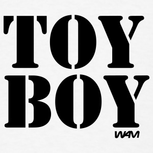 White toy boy by wam Buttons - Men's T-Shirt