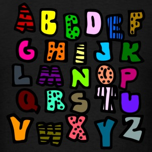 Powder blue Graffiti Alphabet Multi-Color--DIGITAL DIRECT ONLY Long Sleeve Shirts - Men's T-Shirt