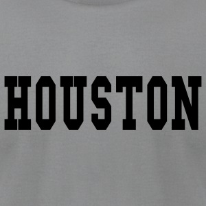 Gray houston by wam Long Sleeve Shirts - Men's T-Shirt by American Apparel