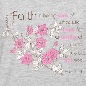 Heather grey Faith (pink & brown) Sweatshirts - Men's Premium Long Sleeve T-Shirt