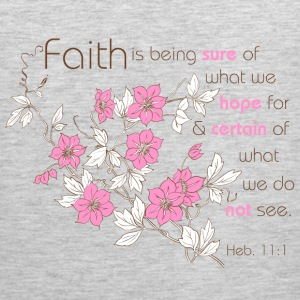 Heather grey Faith (pink & brown) Sweatshirts - Men's Premium Tank