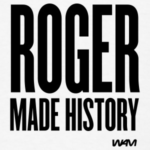 White ROGER made history Buttons - Men's T-Shirt