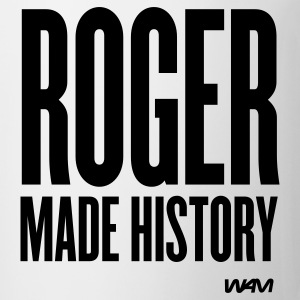 White ROGER made history Buttons - Coffee/Tea Mug