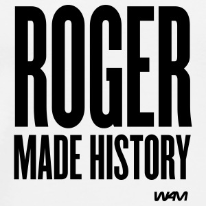 White ROGER made history Buttons - Men's Premium T-Shirt