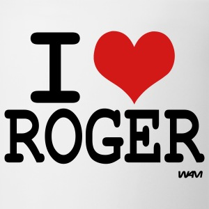 White i love roger Hooded Sweatshirts - Coffee/Tea Mug