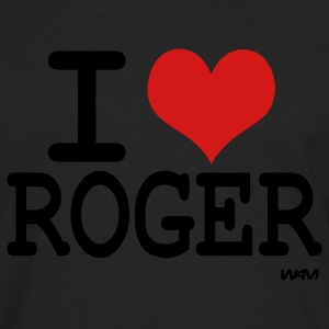 Black i love roger Kids' Shirts - Men's Premium Long Sleeve T-Shirt