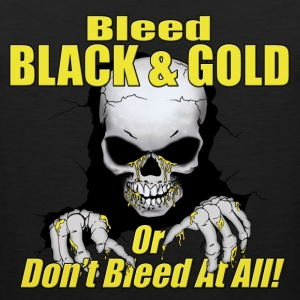Black Bleed Black and Gold T-Shirts - Men's Premium Tank