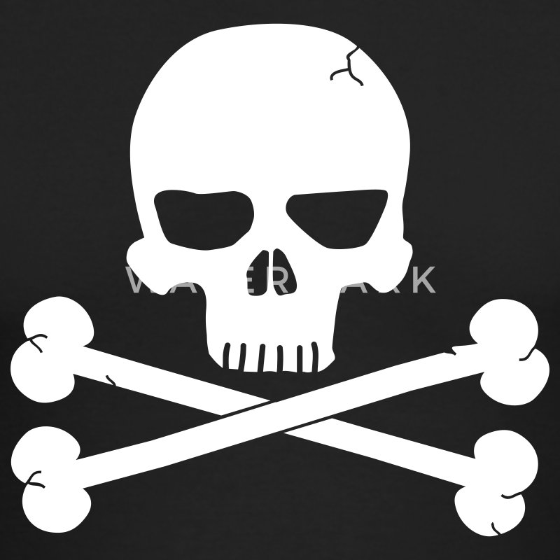 Black Skull with Crossbones Beneith Long Sleeve Shirts - Men's Long Sleeve T-Shirt by Next Level