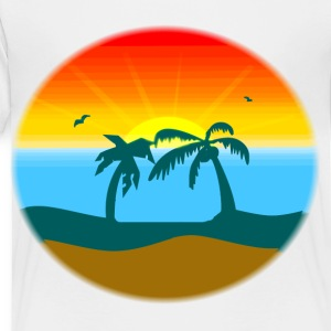 White sunset/sunrise Kids' Shirts - Toddler Premium T-Shirt