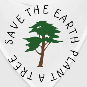 Save The Earth Buttons - Bandana