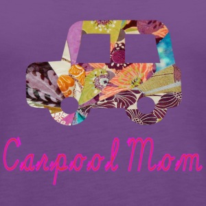 Light pink CARPOOL MOM Hooded Sweatshirts - Women's Premium Tank Top