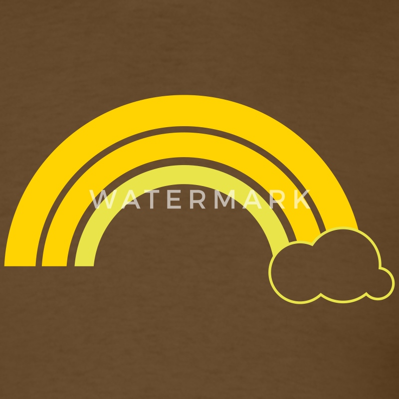 Brown Retro rainbow T-Shirts - Men's T-Shirt
