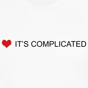 White/black it's complicated by wam T-Shirts - Men's Premium Long Sleeve T-Shirt