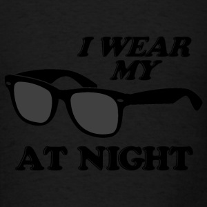 Light pink Wear Sunglasses Night Long Sleeve Shirts - Men's T-Shirt