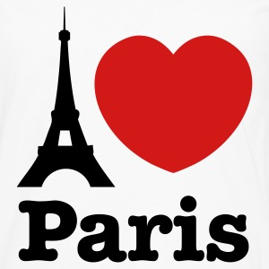 White I Love Paris T-Shirts - Men's Premium Long Sleeve T-Shirt