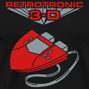 Black Retrotronic 3D Hoodies - Men's Premium T-Shirt