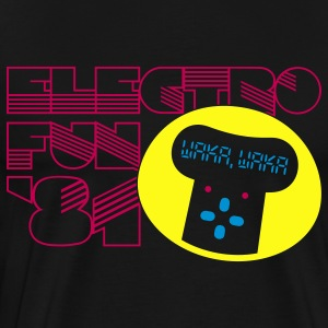 Black Electro Fun '81 Hoodies - Men's Premium T-Shirt
