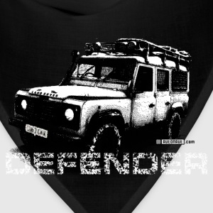 Brown Land Rover Defender illustation - AUTONAUT.com T-Shirts - Bandana