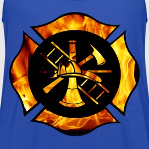 Royal blue Flaming Maltese Cross Hoodies - Women's Flowy Tank Top by Bella