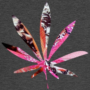 Asphalt PSYCHEDELIC POT LEAF T-Shirts - Men's Long Sleeve T-Shirt