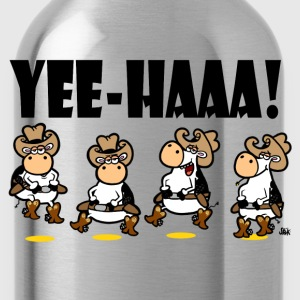 Creme YEE-HAAA! Linedancing Cows Women's T-Shirts - Water Bottle