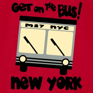 Red Get On The Bus With M27, NYC Hybrid Bus Baby Body - Men's T-Shirt by American Apparel