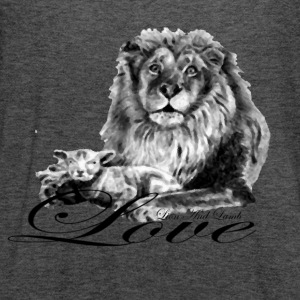 Lion and Lamb Love - Women's Flowy Tank Top by Bella